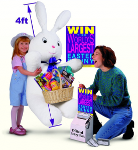Giant Easter Bunny Contest and Sweepstakes