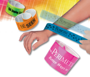 action band promotional slap bracelets