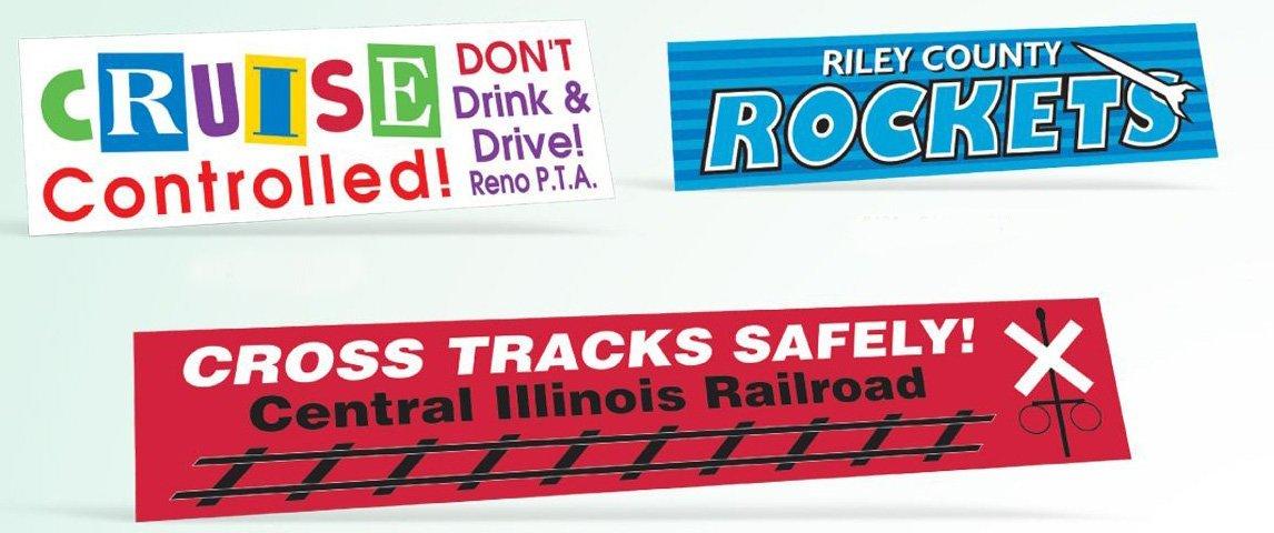 imprinted bumper stickers