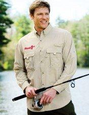cutomized logo fishing shirt