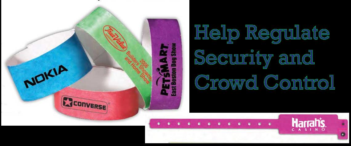event bracelets id control bracelets