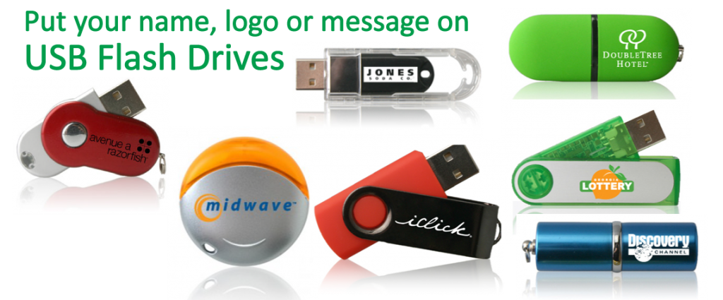 USB Flash Drives Imprinted with Logo or Name for Business