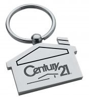 house shaped key chain