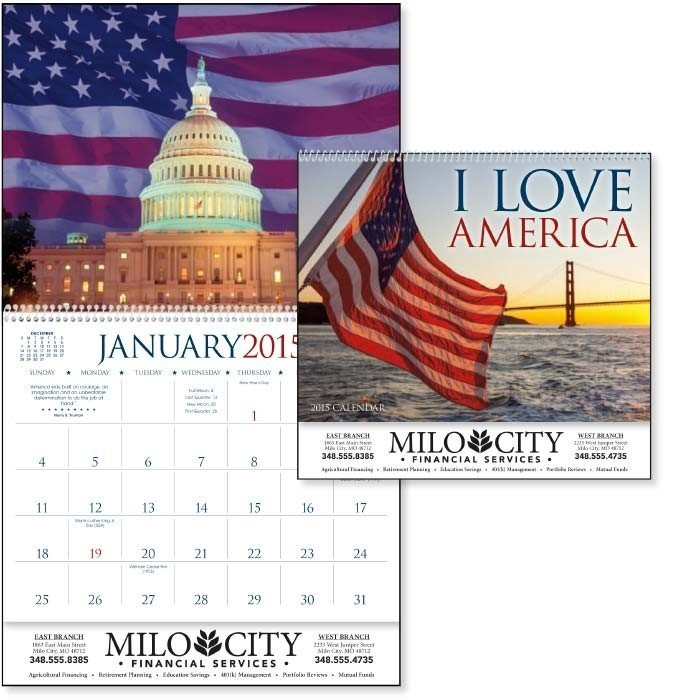 imprinted patriotic calendar