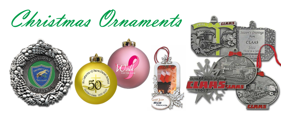 imprinted holiday christmas ornaments