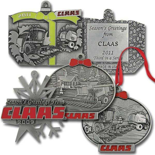 imprinted custom pewter ornaments