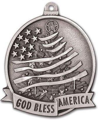 Patriotic Holiday Christmas Ornaments
