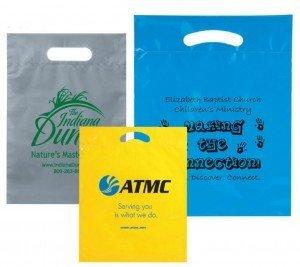 trade show giveaway plastic bag