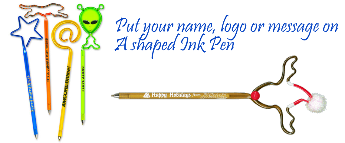 special shaped ink pens