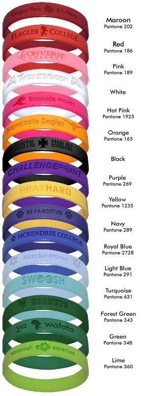 usa made bracelets colors USA Made Silicone Bracelets
