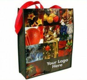 imprinted holiday bag
