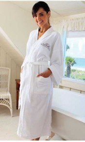 personalized embroidered robe