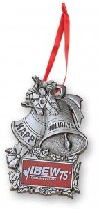 stock pewter Christmas ornament