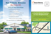 Dentist Postcard for Direct Mail Advertising