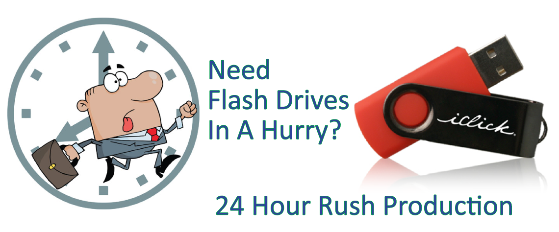 rush production on USB Flash Drives