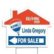 House Shaped Real Estate Yard Sign