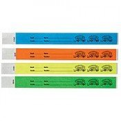 Tyvek Bus ID Wristbands