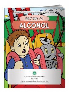 alcohol awareness promotions coloring book