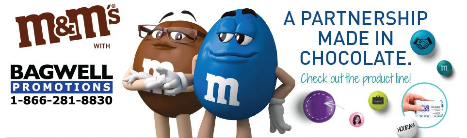 M&M candy - Imprinted with your logo or name