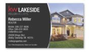 real estate business card magnet