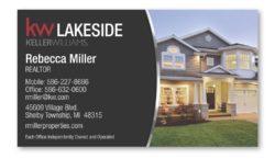 real estate business card magnet