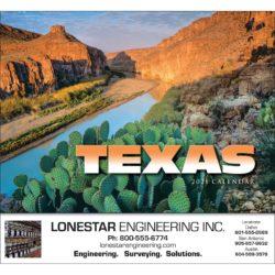 Imprinted State Calendar Texas State Calendar