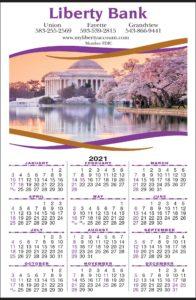 imprinted wall calendar