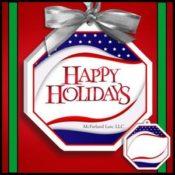 Patriotic Holiday Christmas Ornaments