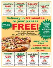 Pizza Circular for Restaurant Promotions