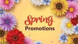 Spring Promotional Product Header