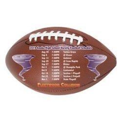 Football shaped magnet