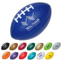Football shaped stress ball